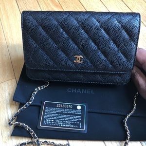 Chanel WOC- Black Caviar with Gold